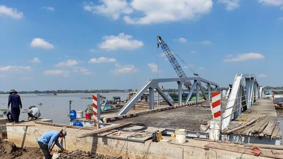 Bến phà Rạch Miễu tạm sẽ hoạt động từ ngày 27-1
