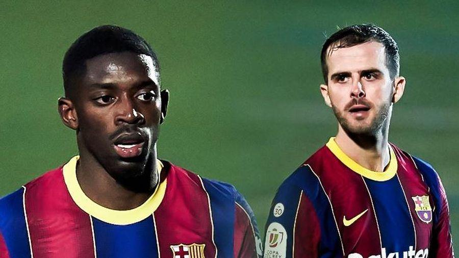Dembele ghi bàn cho Barca sau khi đá hỏng quả phạt đền
