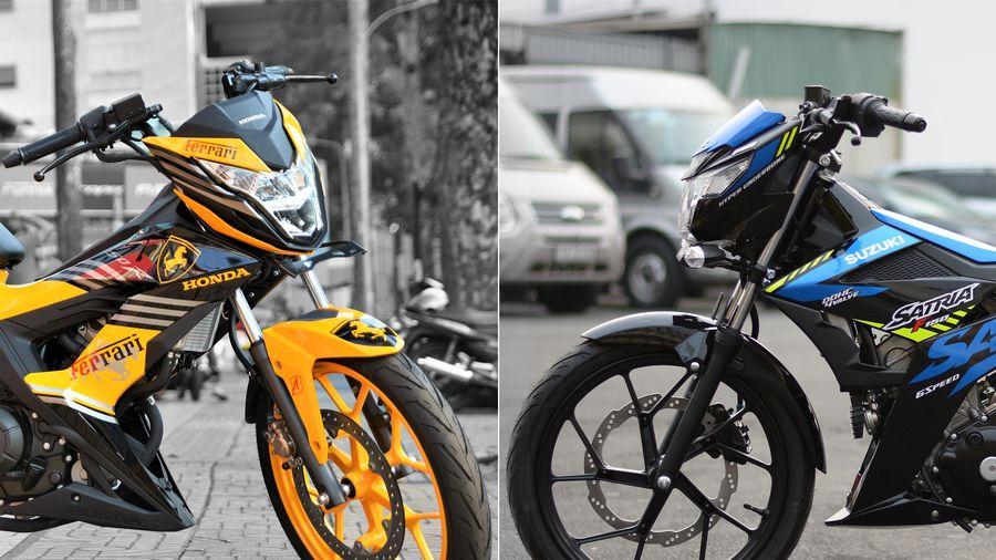 Xe côn tay hyper-underbone, chọn Suzuki Satria hay Honda Sonic