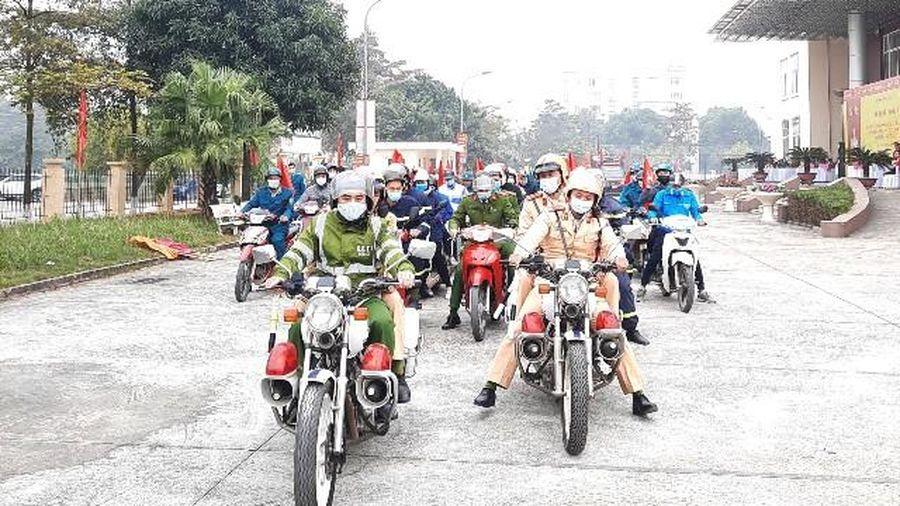 Huyện Mê Linh ra quân bảo đảm an toàn phòng, chống cháy nổ Tết Tân Sửu 2021