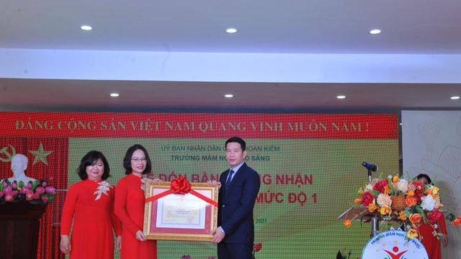 Hà Nội: Quận Hoàn Kiếm có thêm trường mầm non đạt chuẩn Quốc gia