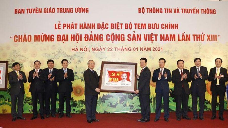 Phát hành bộ tem 'Chào mừng Đại hội Đảng Cộng sản Việt Nam lần thứ XIII'