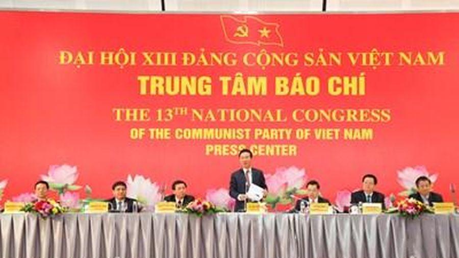 1.587 đại biểu tham dự Đại hội XIII của Đảng