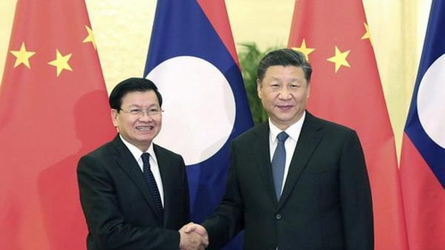 Lãnh đạo Trung Quốc-Lào điện đàm thúc đẩy quan hệ song phương