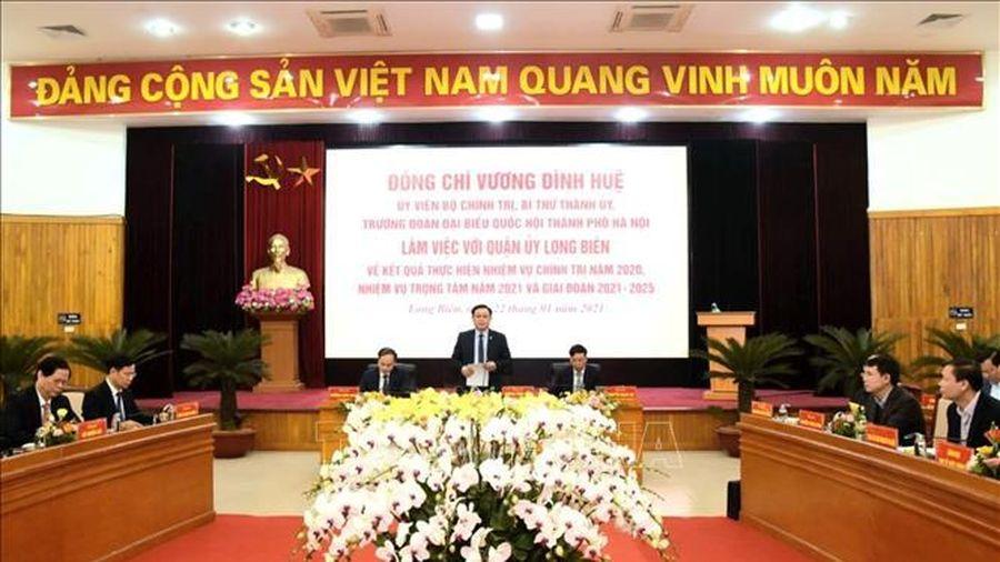 Bí thư Thành ủy Hà Nội Vương Đình Huệ: Quận Long Biên phấn đấu đạt các tiêu chí về đô thị phát triển