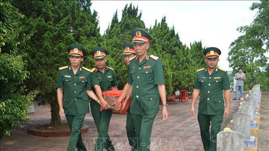 Truy điệu và án táng hài cốt liệt sỹ cất bốc ở Hướng Hóa, Quảng Trị