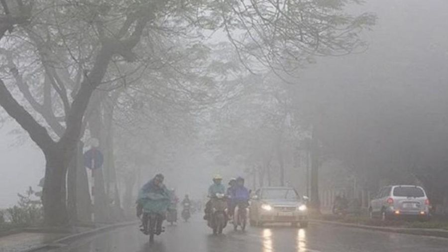 Dự báo thời tiết hôm nay 22/1: Cóng lạnh vì sương mù dày đặc kèm mưa phùn