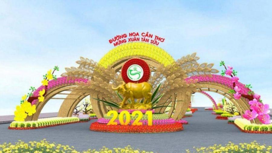 Giá vé giữ xe tại Đường hoa Tết Cần Thơ năm 2021 cao nhất 40.000 đồng/xe
