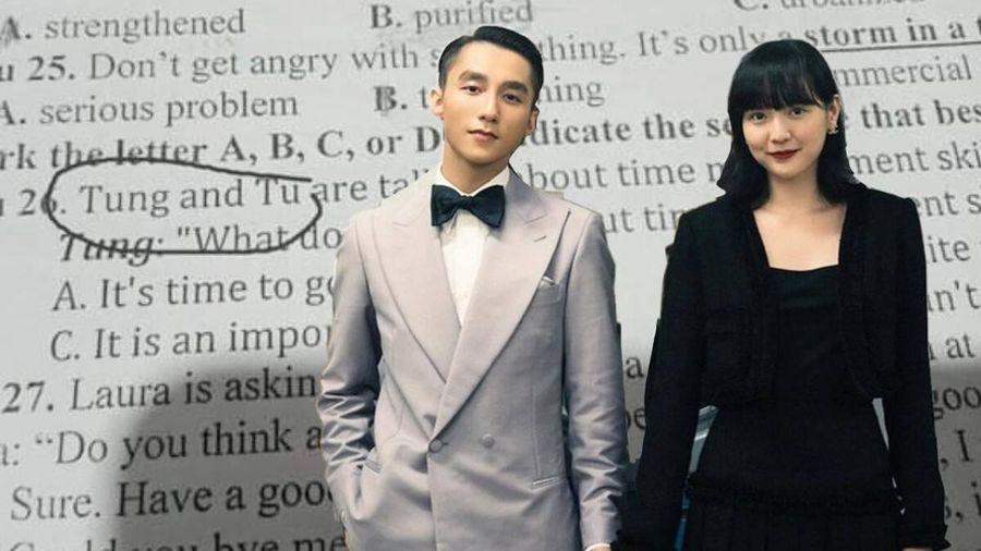 Cặp đôi 'Tùng - Tú' xuất hiện trong đề thi tiếng Anh: Thầy cô bắt trend thế này ai làm lại?