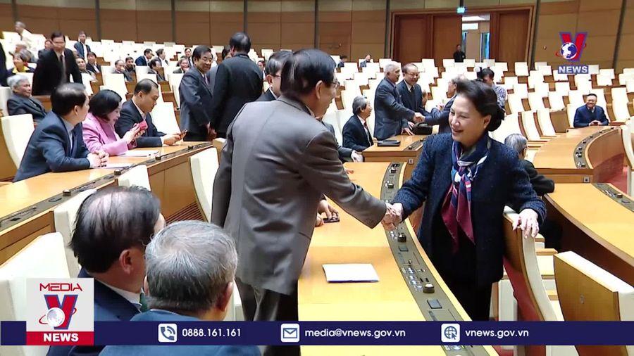 Gặp mặt, chúc Tết các đồng chí nguyên lãnh đạo Quốc hội