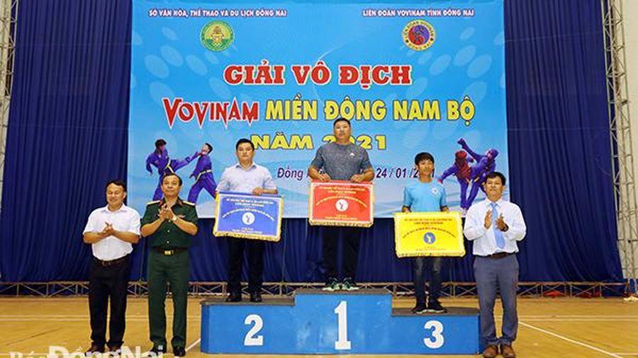 Đồng Nai dẫn đầu Giải vô địch Vovinam miền Đông Nam bộ 2021