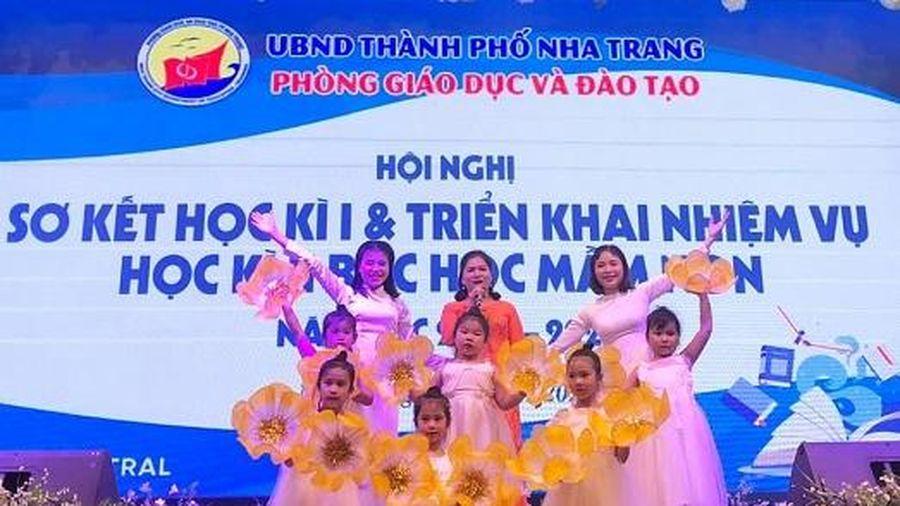 Phòng Giáo dục và Đào tạo TP. Nha Trang sơ kết học kỳ I bậc học mầm non