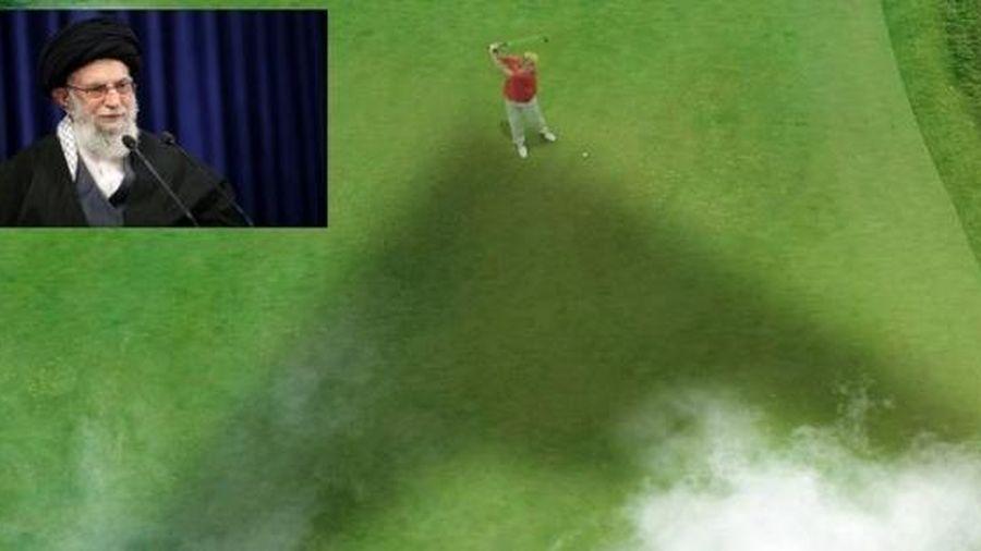 Lãnh đạo Iran đăng hình người đánh golf giống ông Trump, đe dọa trả thù