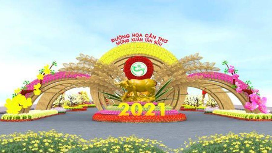 40.000 giỏ hoa, cây cảnh góp mặt tại Đường hoa Cần Thơ - Mừng xuân Tân Sửu 2021
