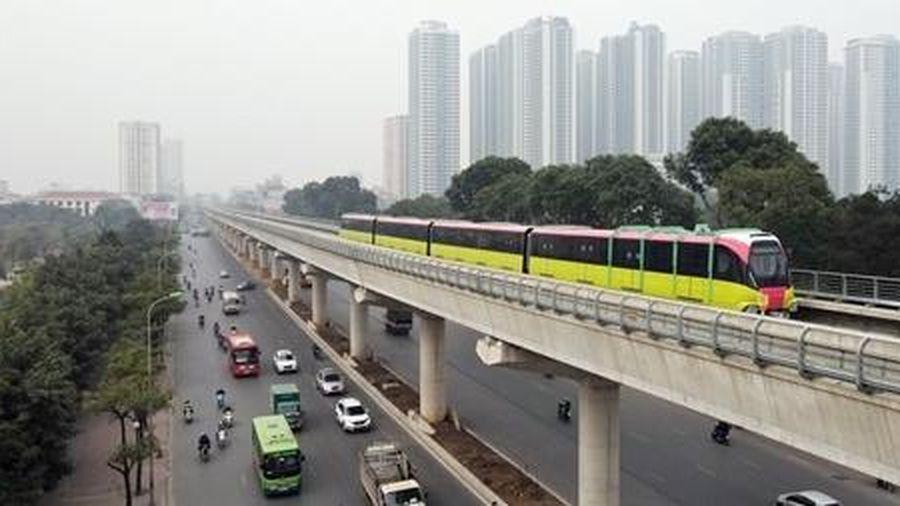 Tàu điện đường sắt Nhổn - Ga Hà Nội bắt đầu chạy thử nghiệm