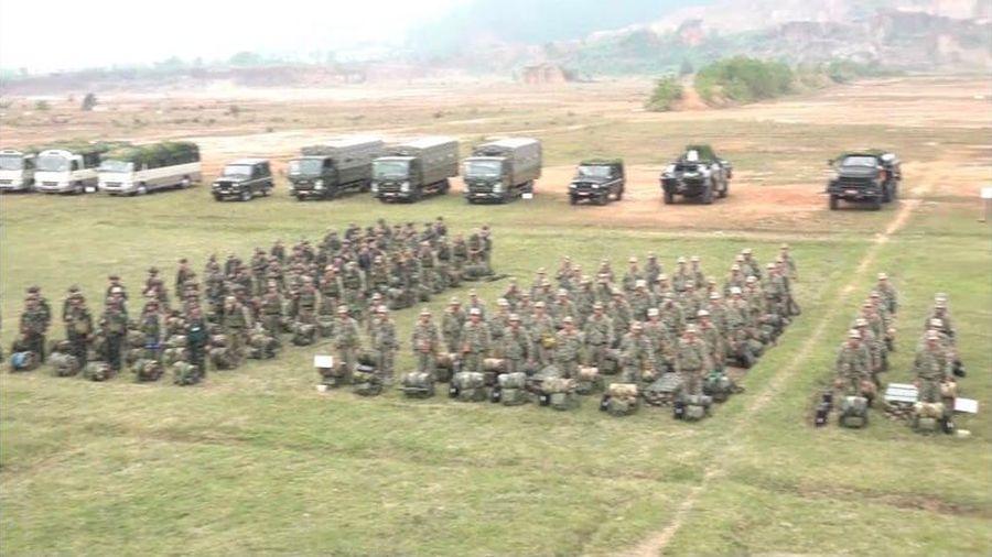 Các đơn vị đặc nhiệm ra quân bảo vệ Đại hội Đảng lần thứ XIII