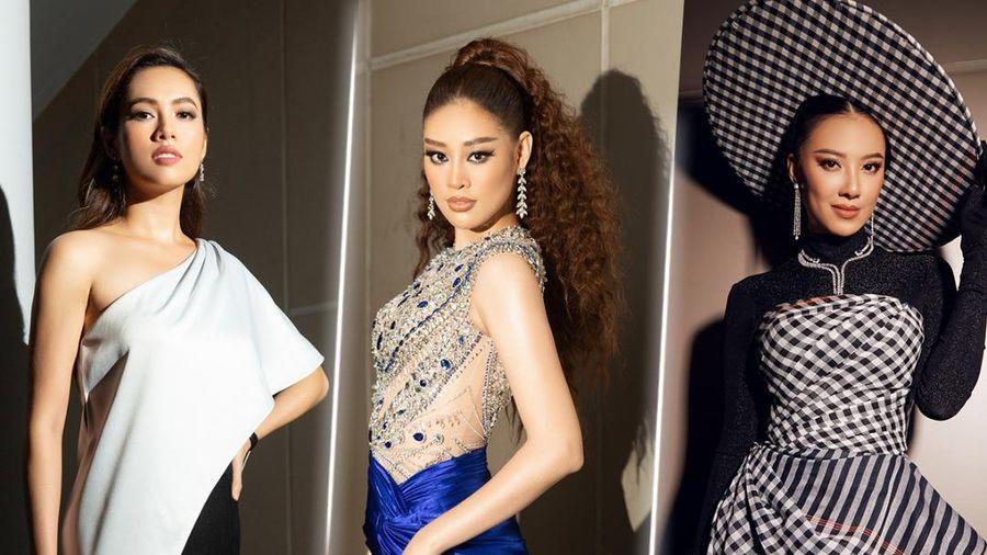 Khánh Vân lột xác với tóc xù ấn tượng, Kim Duyên diện thiết kế khăn rằn đọ sắc cùng Hoàng My tối giản