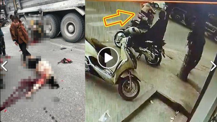Kinh hoàng khoảnh khắc 2 phụ nữ vượt đèn đỏ tông vào xe ben
