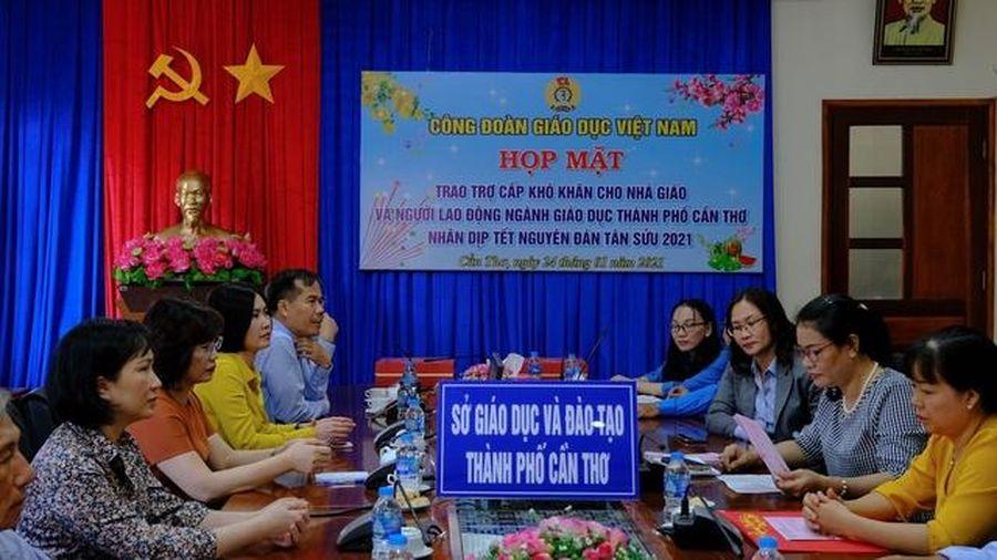 Công Đoàn ngành Giáo dục Việt Nam chúc tết cán bộ giáo viên tại TP Cần Thơ