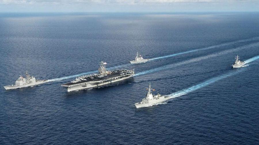 Tàu sân bay của Mỹ đi vào Biển Đông dưới thời tân Tổng thống Biden