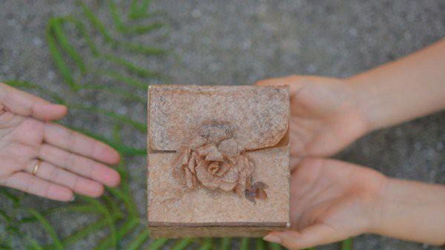 Sinh viên biến thân chuối thành giấy đẹp