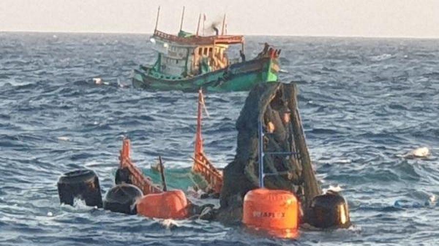 Vụ tàu cá Bến Tre bị chìm ở Côn Đảo: Tìm thấy một thi thể ngư dân