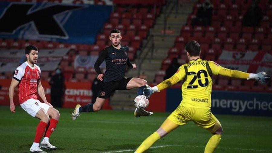 Kết quả Cheltenham 1-3 Man City: Man xanh hú vía vào vòng 5 FA Cup