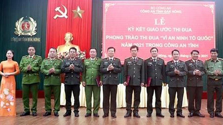 Công an Đắk Nông tổ chức ký giao ước phong trào thi đua 'Vì an ninh Tổ quốc' năm 2021