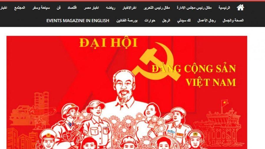 Báo chí Ai Cập ca ngợi Việt Nam trước thềm Đại hội XIII của Đảng
