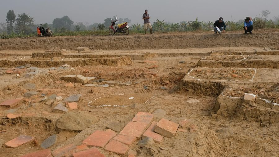 Nhiều di tích kiến trúc tại Thành nhà Hồ lần đầu lộ diện