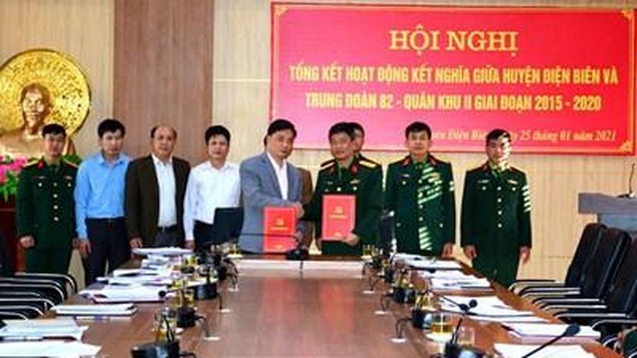Tăng cường tình đoàn kết giữa Trung đoàn 82 và huyện Điện Biên