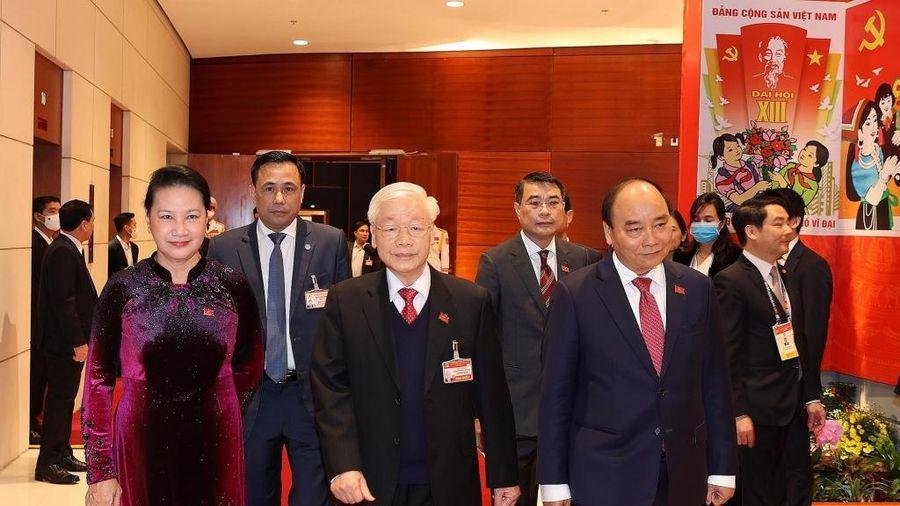 Tổng Bí thư, Chủ tịch nước Nguyễn Phú Trọng và các đại biểu dự phiên họp trù bị Đại hội lần thứ XIII của Đảng