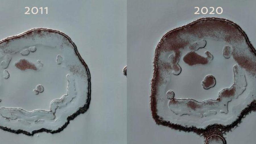 'Mặt cười' trên sao Hỏa thay đổi gây sốc sau gần 10 năm