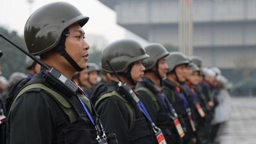 Cảnh sát cơ động nguyện toàn tâm bảo vệ Đại hội Đảng