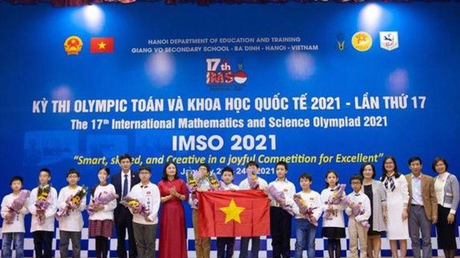 Học sinh Việt Nam giành 20 huy chương tại kỳ thi Olympic Toán học và Khoa học quốc tế