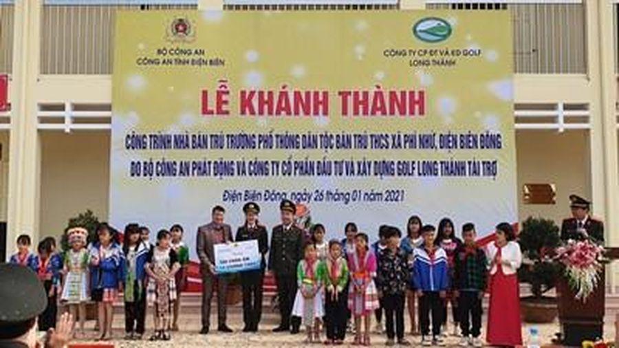 Khánh thành công trình nhà ở bán trú cho học sinh ở Điện Biên Đông