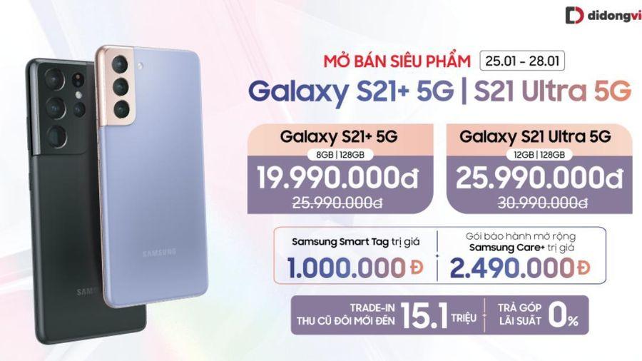 Samsung Galaxy S21 Plus, S21 Ultra mở bán, 30% người dùng đặt trước được trả hàng
