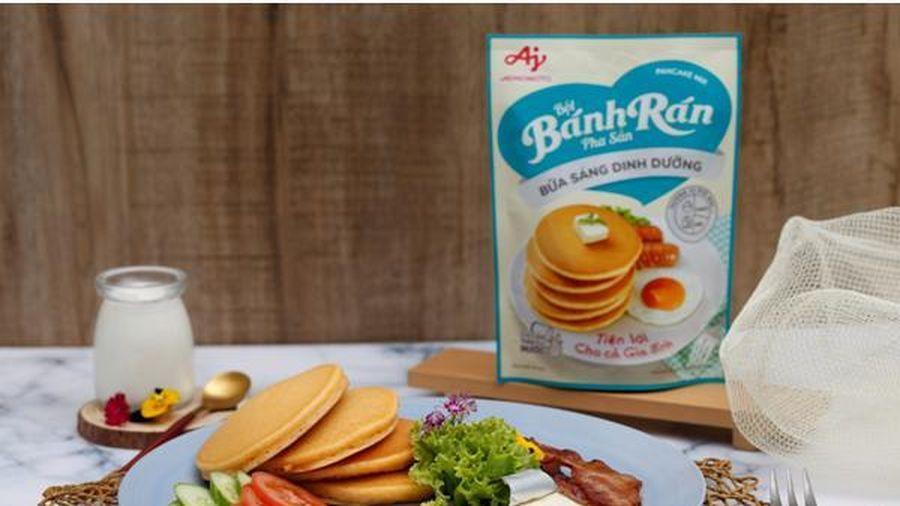 Bữa sáng chuẩn dinh dưỡng và tiện lợi với Bột bánh rán pha sẵn từ Ajinomoto