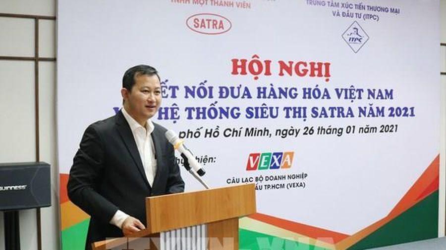 Doanh nghiệp Việt quan tâm đến đưa hàng hóa vào hệ thống siêu thị