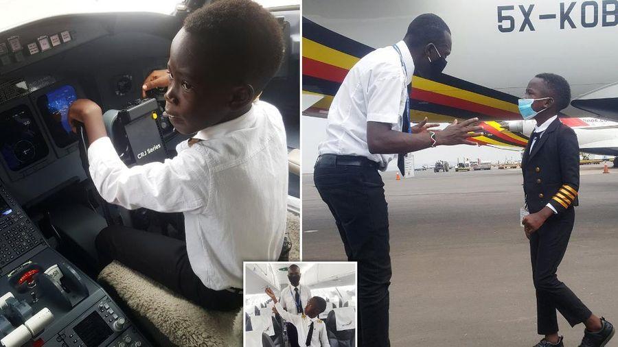 Cơ trưởng 7 tuổi khiến cả thế giới kinh ngạc nhờ tài lái máy bay
