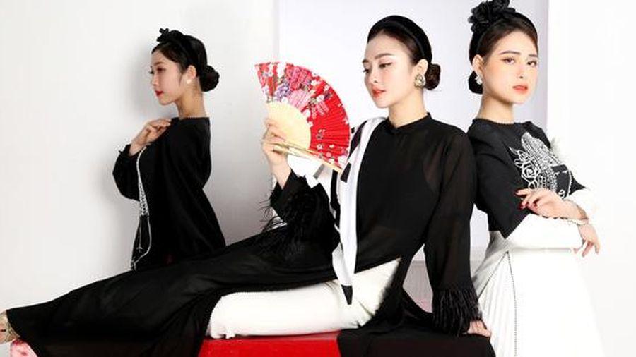 Cao Minh Tiến thiết kế áo dài lấy cảm hứng từ dân ca quan họ