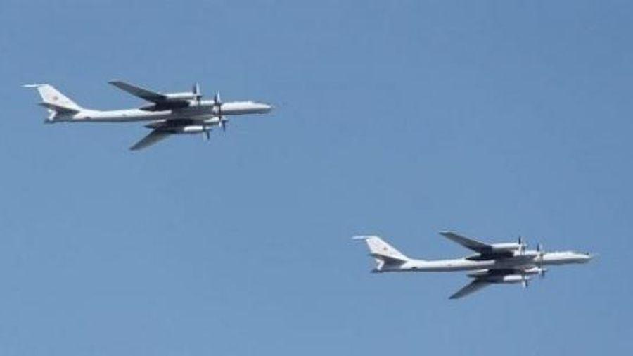 Hai máy bay săn ngầm hạng nặng Tu-142 Nga bay vào vùng nhận dạng phòng không của Mỹ