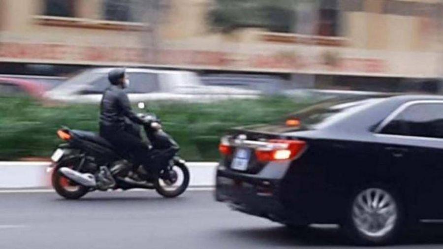 Hà Nội: Xử lý nghiêm nam thanh niên phóng xe máy vượt đoàn xe phục vụ Đại hội Đảng