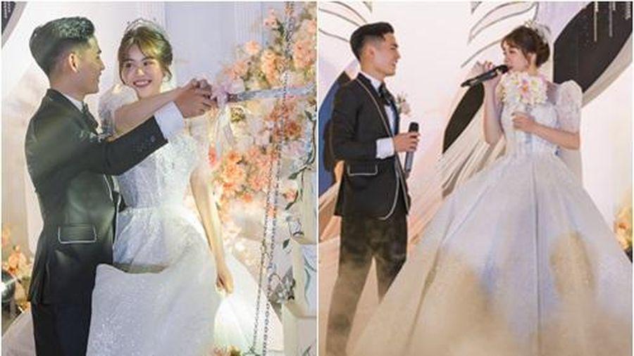 Bố 'nhà người ta' tự thiết kế đám cưới tiền tỷ cho con gái, gần 300 xế hộp xếp chật kín đường