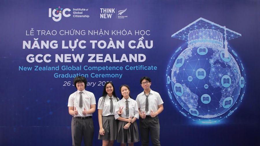 25 học sinh Việt Nam được New Zealand trao chứng chỉ năng lực toàn cầu