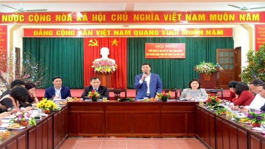 Thẩm định các xã của huyện Thường Tín đạt chuẩn nông thôn mới nâng cao