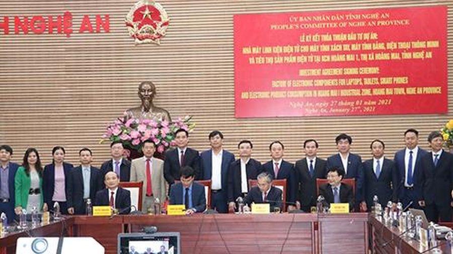 Nghệ An: Ký kết thỏa thuận đầu tư dự án 200 triệu USD