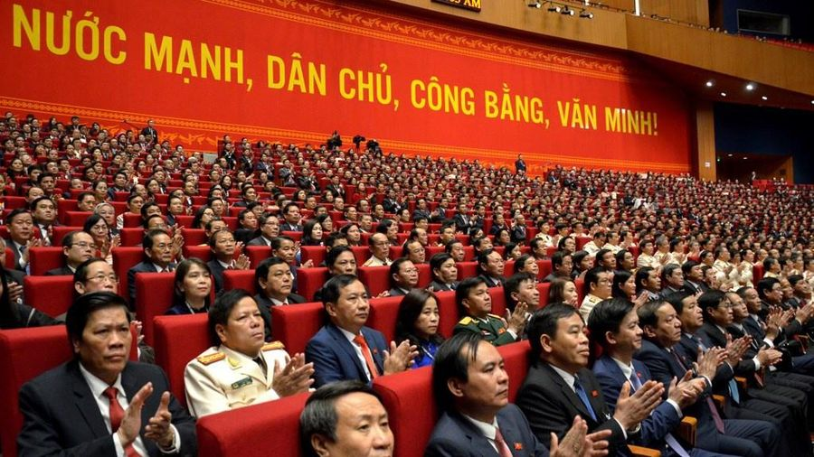 Đại hội nghe báo cáo về nhân sự Ban Chấp hành Trung ương khóa XIII