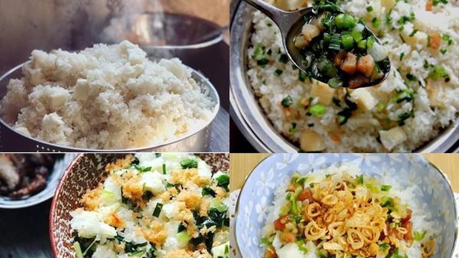 Bí quyết nấu xôi sắn mỡ hành thơm bùi cho bữa sáng ngày Đông