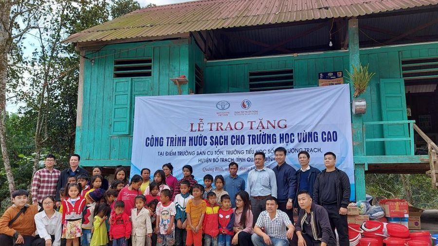 Quỹ Toyota Việt Nam (TVF) bàn giao hệ thống lọc nước tinh khiết cho trường học tại Quảng Bình